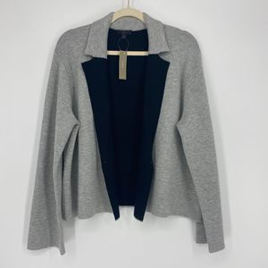 J. CREW REVERSIBLE NOTCHED COLLAR SWEATER JACKET